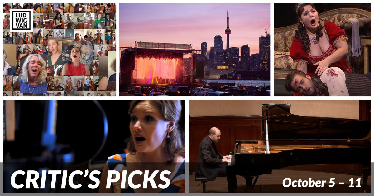 Classical music and opera events streaming on the web for the week of October 5 – 11.