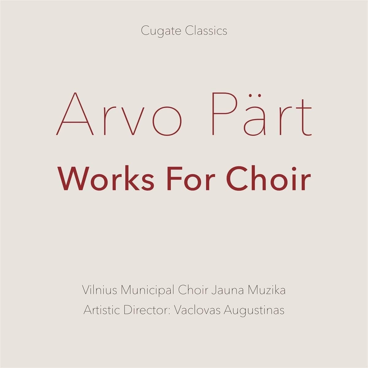 Arvo Part CD