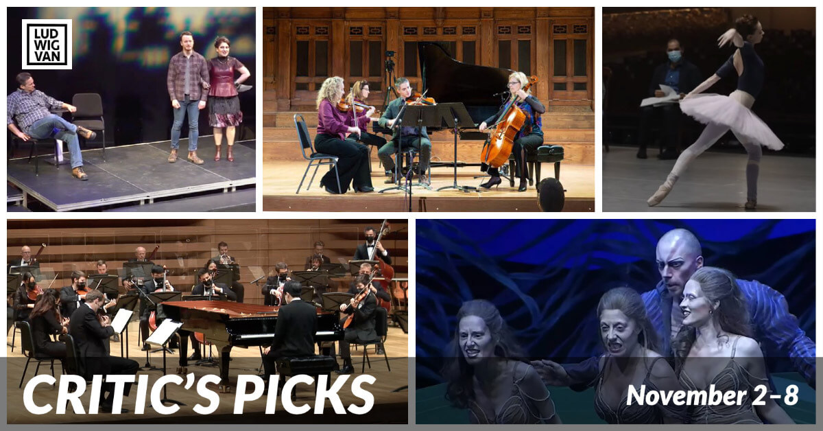 Classical music and opera events streaming on the web for the week of November 2 – 8.