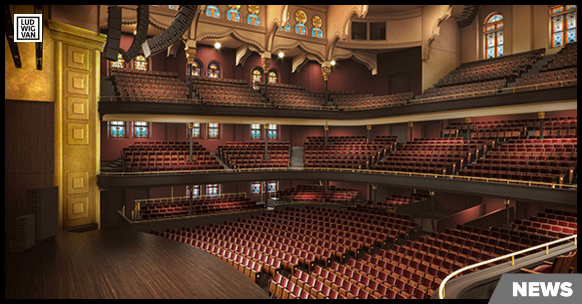 Architectural rendering of the auditorium of Toronto's Massey Hall. (Photo: KPMB Architects)