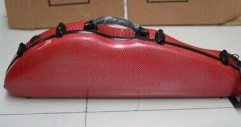 Bright red BAM violin case