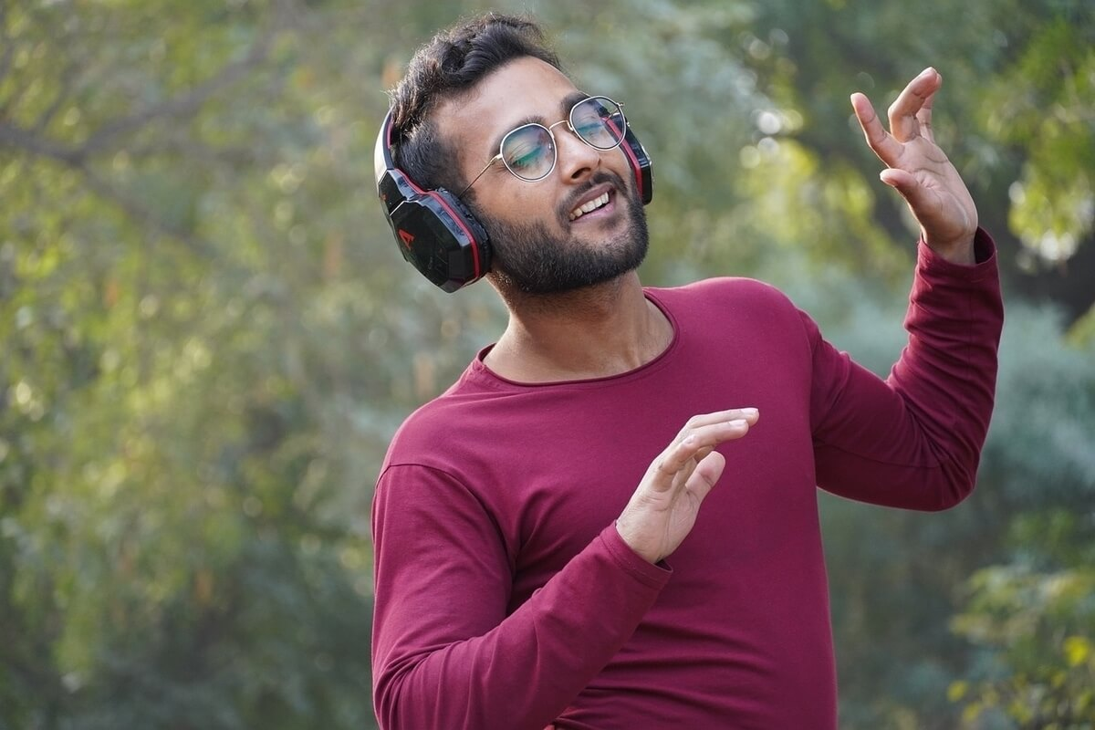 man-listening to music