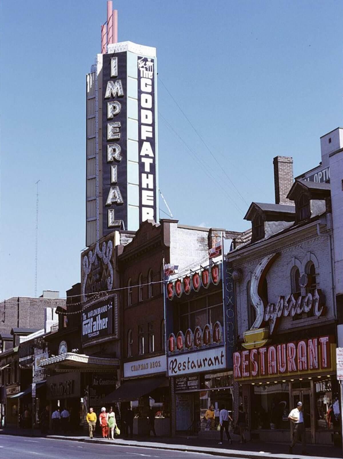 Imperial Theatre in Toronto (Photo: Ellis Wiley 1918-2002 via City of Toronto Archives)