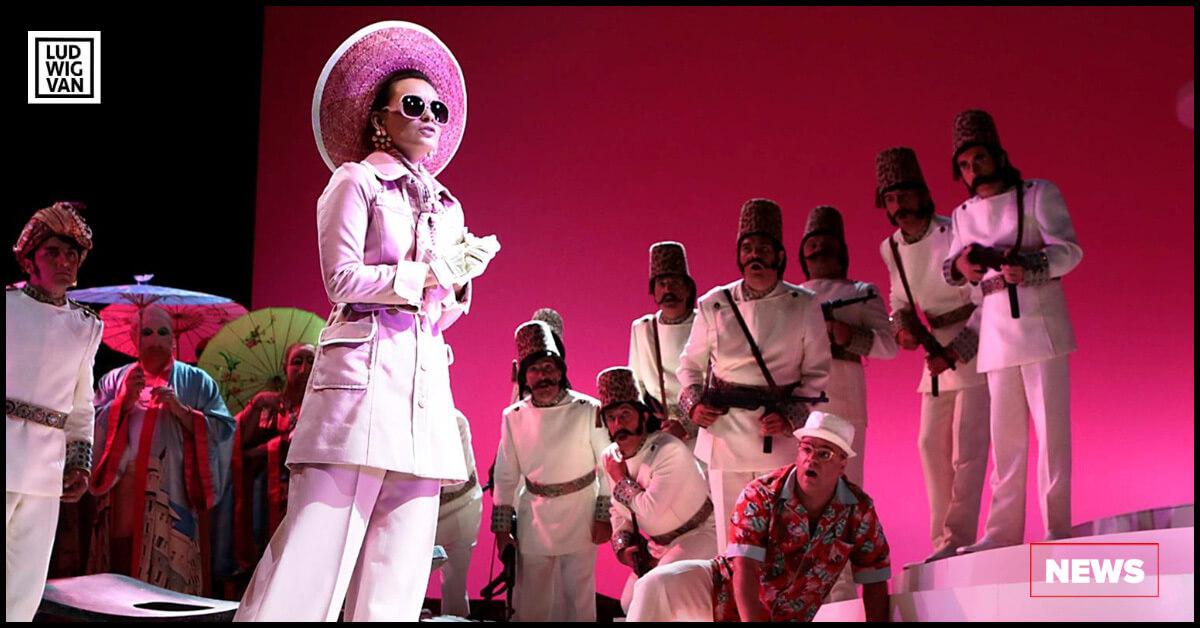 Anna Goryachova as Isabella in the 2013 Rossini Opera Festival production of L'Italiana in Algeri (Photo courtesy of ROF)