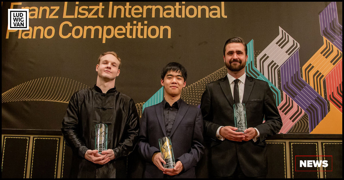 Giovanni Bertolazzi, Kevin Chen, and Kovács Gergely. (Photo courtesy of the Franz Liszt International Piano Competition)