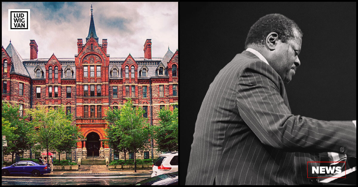 L-R The Royal Conservatory of Music (Photo: Creative Commons/Wikipedia); Oscar Peterson at Eastman Theatre, 1977 (Photo: Tom Marcello/Flickr)
